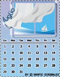 Grafic Scribbles: Calendario mese di Luglio Free Download