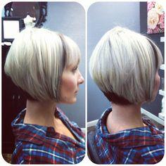 "Model: Sara Odom / Stylist: Brit Paige / Brit Paige Studio at Fringe Salon / 701 Rio Grande St. Austin, TX 78701.  Platinum base hair color with my signature ""Shadow Painting"" in a dark mauve for extreme contrast! Britpaige.com"