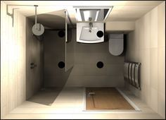 A small wetroom with walkin shower screen designed by Room H2O using Virtual Worlds bathroom design software