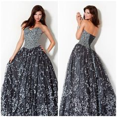 Jovani Prom 171481 Stunning Ball Gown 171481, Covered in crystal, corset bodice  #Jovani #BallGown #Formal