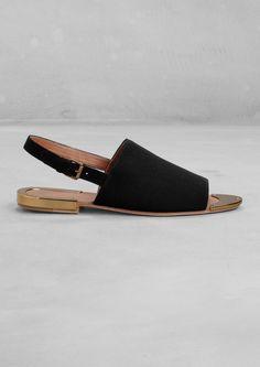 Slingback sandals £55