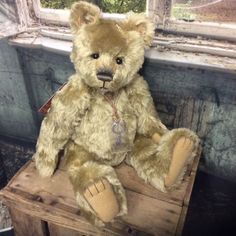 CHARLIE BEARS DUSTY PAWS 19INCH MOHAIR JOINTED VINTAGE STYLE BEAR FROM THE ATTIC