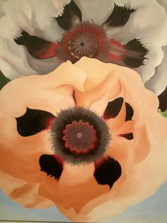 Georgia O'Keeffe~ 'Poppies', 1950, Milwaukee Museum of Art, Milwaukee, Wisconsin