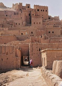 Old walled village in Morocco.