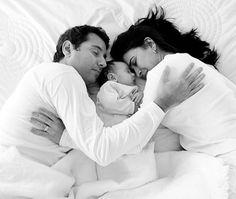 bebe, familia, recem nascido, nest