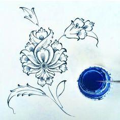 Teshib hatai Islamic Art Pattern, Arabic Pattern, Pattern Art, Arabesque, Persian Motifs, Turkish Art, Stencils, Ceramic Painting, Calligraphy Art