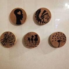 #Ahşapyakmatekniği #Odun magnet . Fiyat için mesaj kısmından sorabilirsiniz