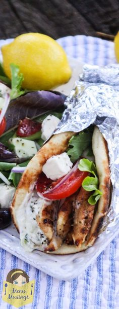 Yogurt Marinated Greek-Style Chicken Gyros - Simple, healthy, and delicious recipe that is flexible enough for a crazy evening when your family is getting home at all different times. Step-by-step photos! <3