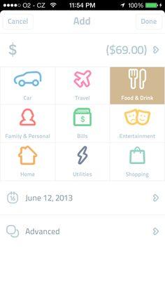 Spendee iOS 7 design app mobile