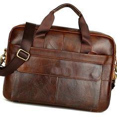 Luxury Business Briefcase Handbag Messenger Laptop Shoulder Genuine Leather Men's Bag - cheapsalemarket