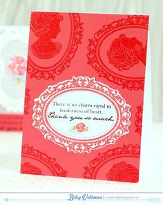 Simply Jane Revisited - Simple Thank You So Much Card by Betsy Veldman for Papertrey Ink (June 2014)