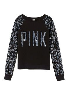 Allover Bling Raglan Crew - Victoria's Secret from VS PINK. Saved to Epic Wishlist. Pink Outfits, Cute Outfits, Cute Fashion, Womens Fashion, Fashion Ideas, Pink Animals, Cute Sweaters, Victoria's Secret Pink, Vs Secret