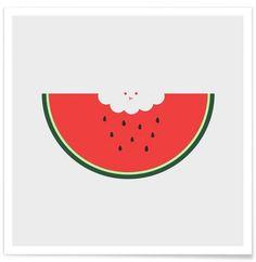 Water Melon als Premium Poster von Jaco Haasbroek | JUNIQE