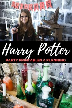 Harry Potter Party printables and plannings. Everything you need to throw an amazing party!
