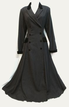 VINTAGE LAURA ASHLEY RIDING COAT VICTORIAN EDWARDIAN 40s WAR BRIDE MISTRESS SEXY | eBay