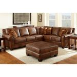 Helena Leather Sectional and Ottoman