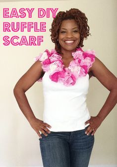 Cutie Booty Cakes: Easy Ruffle Scarf made with Sashay Yarn
