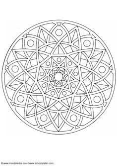 Coloriage Mandalas ! turned into a colour by numbers.