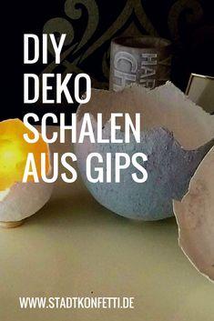 Wunderschöne #Deko Schalen aus #Gips schnell selber gemacht. Wunderbare #Geschenkidee. Farblich individuell gestaltbar. #Frühling #Sommer #Herbst #Winter #osterdeko