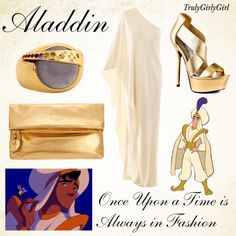 Disney Style: Aladdin, created by trulygirlygirl. this dress would have been great during my pregnancy. Disney Inspired Dresses, Disney Inspired Fashion, Disney Fashion, Disney Prom, Disney Dress Up, Disney Clothes, Disney Themed Outfits, Disney Bound Outfits, Character Inspired Outfits