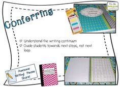 Writer's Workshop and Conferring (FREEBIE), great ideas like always from Mrs. Wills Kindergarten!  I love the conferring notebook, I need to set one up!