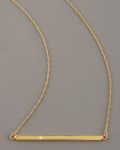 As seen on celebrities Bar-Pendant Necklace by Jennifer Zeuner at Neiman Marcus.