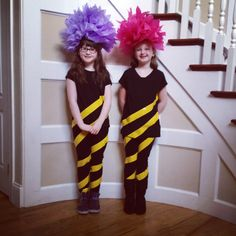 Truffula tree costumes :) dr Seuss