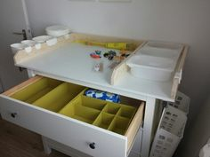 DIY Changing unit - instructions by http://blog.kullaloo.de/wickeltischaufsatz-fuer-ikea-hemnes-kommode-selberbauen/