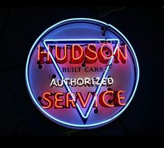 Original Hudson Automobiles Neon Sign
