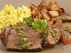 Grilled Steak and Eggs Argentinean Style