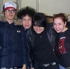 I like how Ray and Gee are acting silly and then there's Mikey just all serious.
