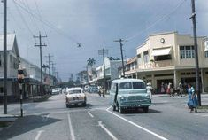 Guyana: Old Georgetown, British Guiana – pictures Vintage Photographs, Vintage Photos, Georgetown Guyana, Bedford Van, British Guiana, South American Countries, South America Travel, France, Historical Pictures