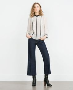 INSERTION LACE BLOUSE-View All-TOPS-WOMAN-SALE | ZARA United States