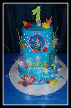 Little Mermaid Frosting Cake Bizcocho de Ariel la Sirenita