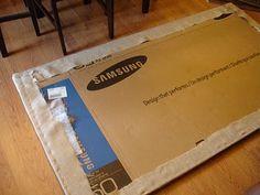 Don't Disturb This Groove: DIY Cardboard Headboard Cardboard Headboard, Diy Fabric Headboard, Cheap Diy Headboard, Faux Headboard, Twin Headboard, Diy Headboards, Diy Cardboard, Diy Upholstered Headboard, Homemade Headboards