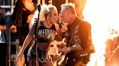 Lady Gaga saved the day when James Hetfield's microphone went dead at the Grammys ~ Mashable