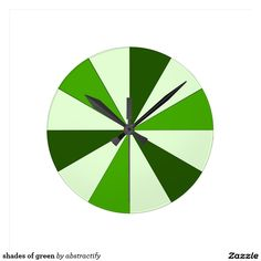shades of green round clock