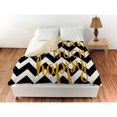 Thumbprintz Believe White and Gold Duvet Cover - Overstock Shopping - Great Deals on Duvet Covers