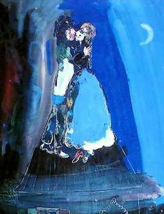 Marc Chagall「La luna de los amantes」
