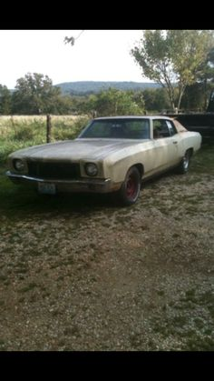 Chevrolet Monte Carlo, Rusty Cars, Barn Finds, Cars And Motorcycles, Muscle Cars, Cool Cars, Man Cave, Badass, Classic Cars