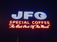 JFG coffee sign -- South Knoxville ---