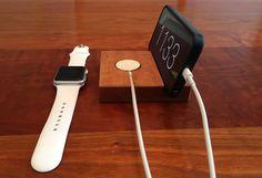 Amazon.com: Cherry Wood Apple Watch and iPhone Docking Station: Handmade