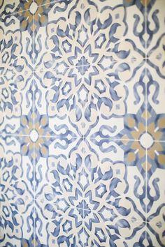 Bedrosians Villa Azul Floral Encaustic Look x Porcelain Field Tile Decorative Tile Backsplash, Wall Tiles, Blue Tile Backsplash Kitchen, Kitchen Redo, Kitchen Styling, Spanish Tile, Blue Tiles, Tile Patterns, Tile Design