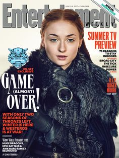 One of five covers of Entertainment Weekly, 24 May, 2017:  Sophie Turner