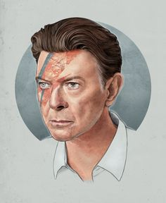 By Helen Green - Combines Century David Bowie and his alter ego Ziggy Stardust. Angela Bowie, David Bowie Born, David Bowie Tribute, Duncan Jones, Bowie Blackstar, David Bowie Pictures, Helen Green, Major Tom, Past Present Future