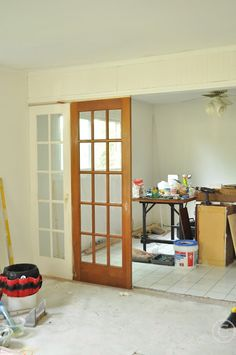 Divide your space by using french doors as room dividers.... - Jennifer Rizzo