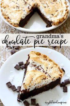 Grandma's Chocolate Pie Recipe FacebookGoogle+InstagramPinterestRSSTwitterYouTube