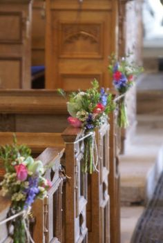 Traditional Flower Company - floral pew ends Wedding Church Aisle, Church Wedding Flowers, Wedding Pews, Wedding Flower Packages, Church Wedding Decorations, Bridal Flowers, Flower Decorations, Wedding Centerpieces, Decor Wedding
