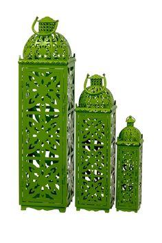 Metal Lanterns Green