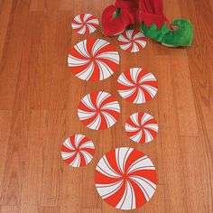 Peppermint Floor Decals - OrientalTrading.com